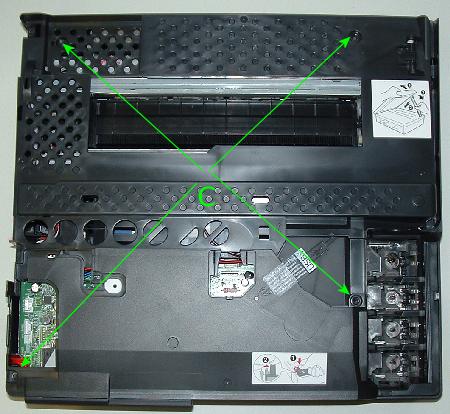 Brother MFC-215C Schrauben